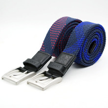 Fashion mixed colors elastic woven belts for men