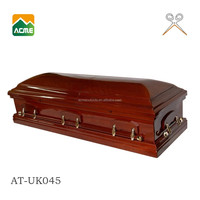 AT-E045 luxury american style coffin and casket supplier