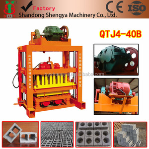 hand press cheap prices fly ash cement brick making machine QTJ4-40B