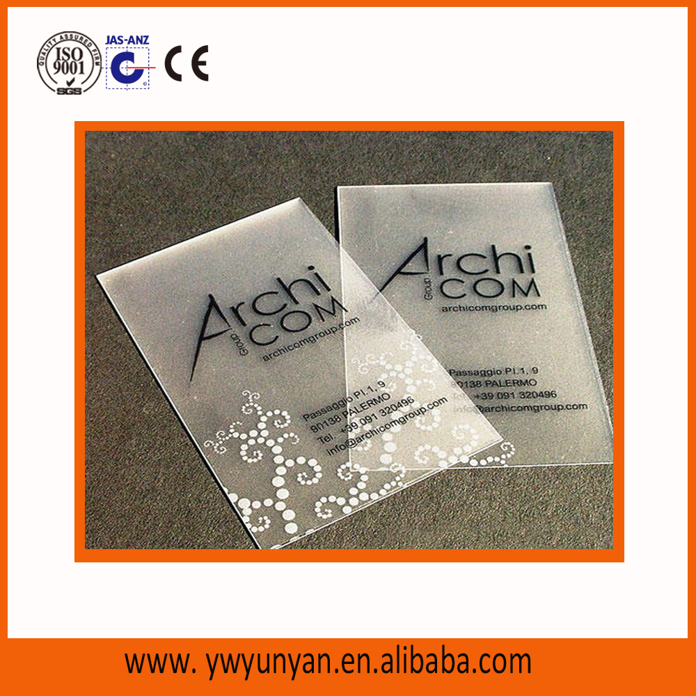 cheap price plastic PVC frosted clear business card