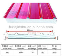 color light weight EPS sandwich roofing panel