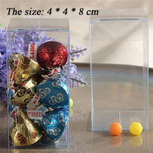 High quality fudge Small foldable packaging , unfoldable clear plastic box