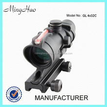 Minghao 4X32mm rifle tactical automatic light red fiber airsoft rifle scope