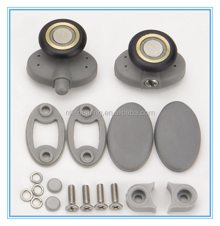 6*18.6 * 6mm stainless steel sliding door pulleys, move the roller pulley for window & shower room