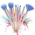 New Glitter Makeup Brushes Luxury 10 Pieces Synthetic Makeup Brush Set Customized Bag or Case