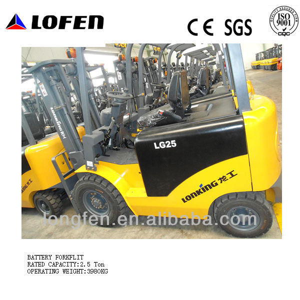 CE/ISO/GOST new mini 2.5Ton small electric battery forklift