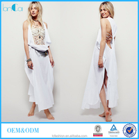 100% Cotton see through lace Turkish long kaftan sexy women fashion dress