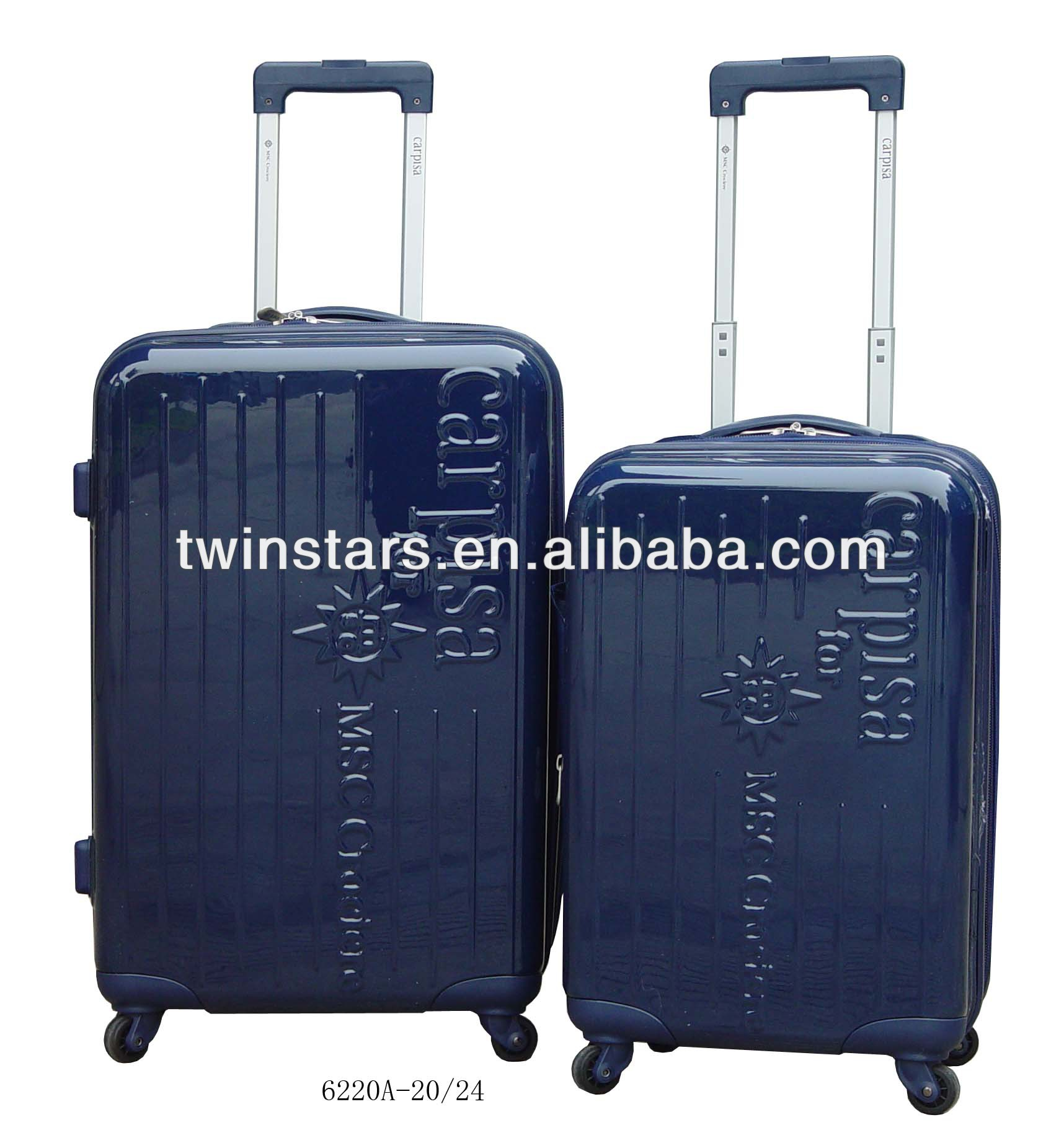 ABS 3-piece classic hardshell luggage trolley case