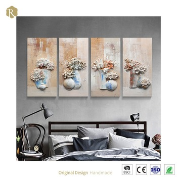 Wall Decoration Product 3d Handmade Canvas Flower Oil Painting On Alibaba