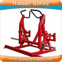 Indoor hammer strength rowing machine