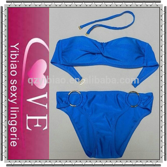 summer fashion sexy swimsuit simple open zipper up young girls swimwear