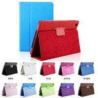 Hot Selling Flip Litchi Grain Leather Stand Cover Case For Apple iPad Mini 1 / 2 / 3