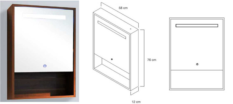 China manufacture Recessed mirror medicine glass mirror cabinets