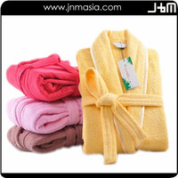 Promotional top quality custom color summer orange bathrobe