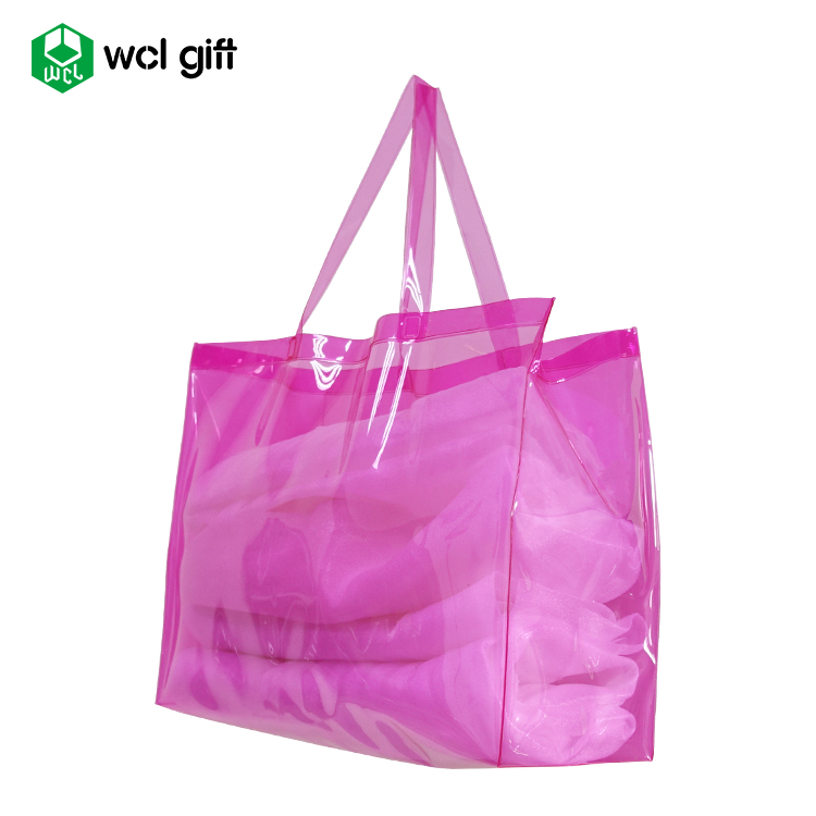 China supplier Simple Fashion multiple colors beach PVC tote shopping bag storage shoulder bag handbag cheap good