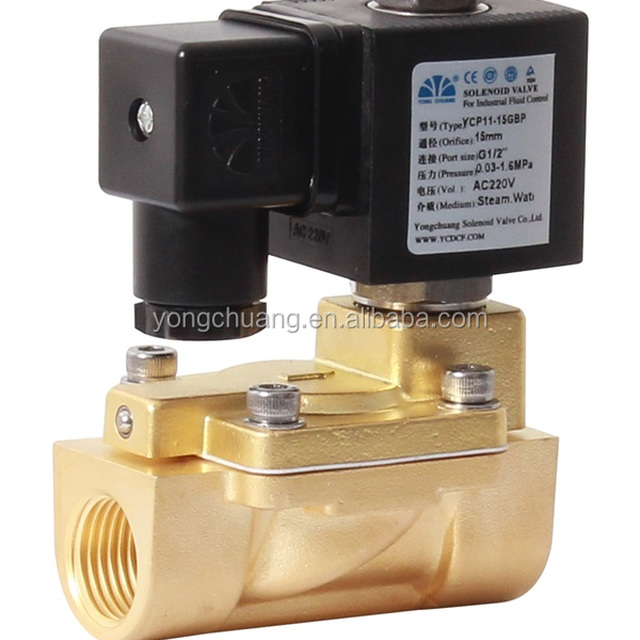 YONGCHUANG YCP11 CE approved pilot operated diaphragm PTFE steam air solenoid valve 12v dc 230v
