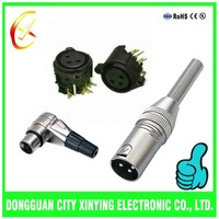 custom different types 3pin male xlr connector