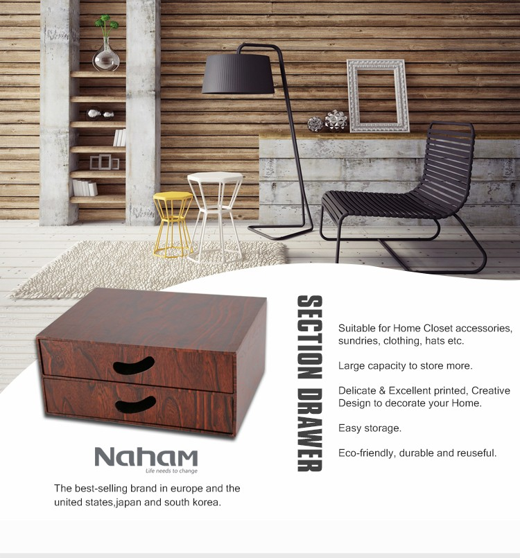 Naham office foldable desktop cardboard storage drawers