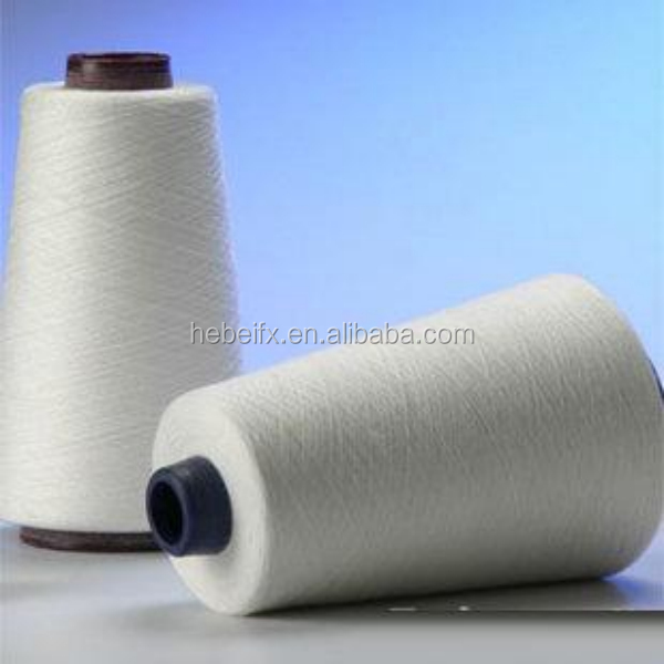 knitting weaving 100 carded snow white recycled open end cotton yarn