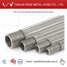 304 wire braid stainless steel flexible hose/tube/pipe