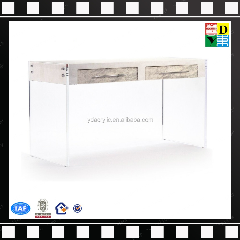 console elegant acrylic and wood top table plexi transperant occasional sofa end table PMMA lucite acrylic tray table wholesale