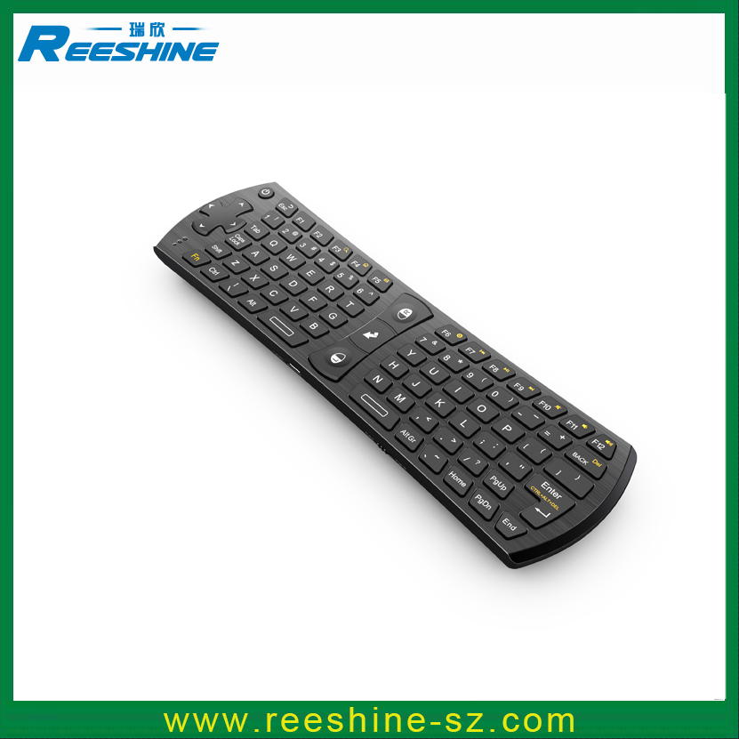 Hot Sale Rii i24 2.4g Wireless Mini bluetooth keyboard qwerty keyboard