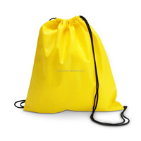 Custom printed cotton gym sack drawstring bags