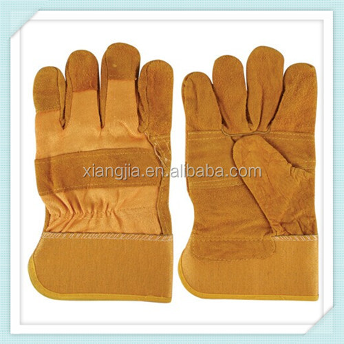 Cowsplit Leather Working Gloves for Heavy Duty Work/industrial working leather gloves/cow spilt leather work gloves