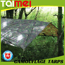 47gsm~300gsm Waterproof PE Camo Tarps / Camouflage Tarpaulin for Ground Cover Sheet