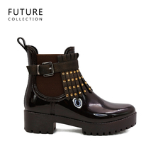 hunting boots high quality PVC women platform rain boots guangzhou shoes