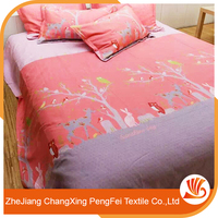 Lovely and fresh style bed sheet set with cheap price