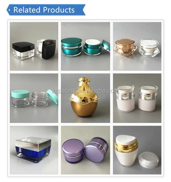 High quality luxury round pearl white 30g acrylic cosmetic jar