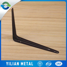 Spray-paint support metal galvanized black angle brackets
