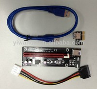 2014 High Quality USB 3.0 PCI-E 1x to 16x Powered Extender Riser card, Adapter card for Bitcoin Manufacturers, Suppliers