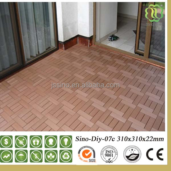 different types 300*300mm DIY wpc /wood plastic composite tiles