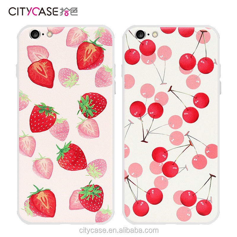 citycase attractive fruit phone case cover soft transparent frame for iPhone6 6s