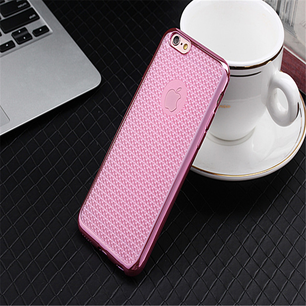 for iphone 6 case silicone, soft plating tpu case
