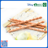 New design shaped high quality cedar natural wooden smell wooden HB pencil back to school