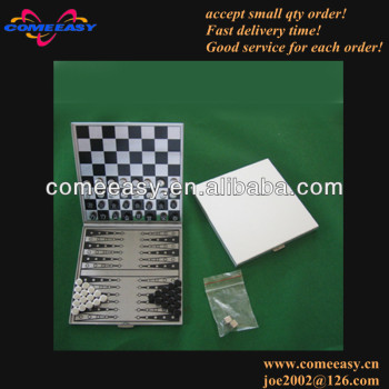 aluminum 2 in 1 magnetic backgammon chess