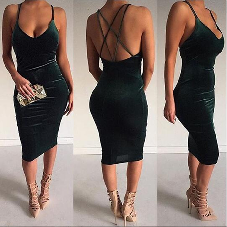 Backless Dress Woman Velvet Dress Clothing Factories In China