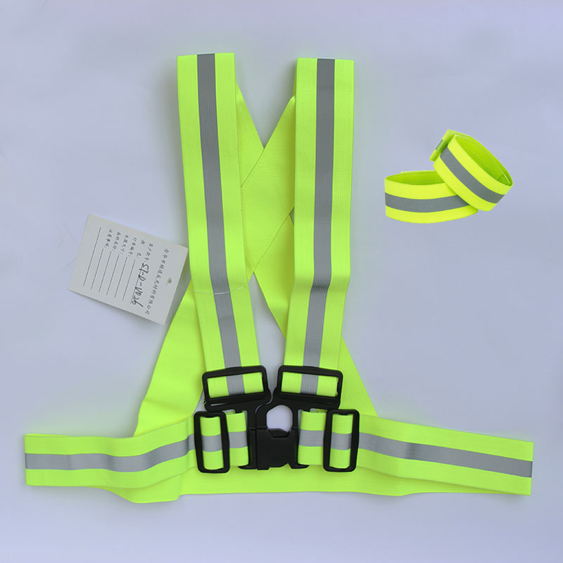 factory direct sale high visibility custom reflective running belt
