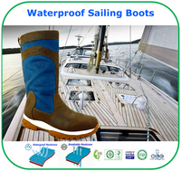 High Quality Breathable Membrane Waterproof Leather Sailing Boots