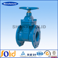 Groove Joint Ends Rising Stem Resilient Seated Gate Valve Drawing
