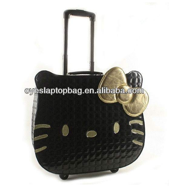 hello kitty travel luggage suitcase bag with computer compartment