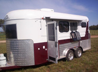three horse angle load horse trailer with soft padding