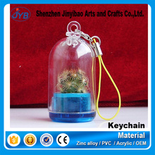 wholesale home decoration key rings greenhouse tiny plant keychains