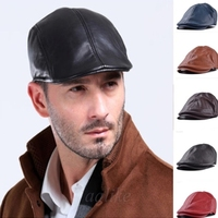 Promotion Warm Waterproof Leather Berets Women Men Spring Fall Fashion Unisex Newsboy Cabbie Flat Hat Casual Beret Chapeu Cap