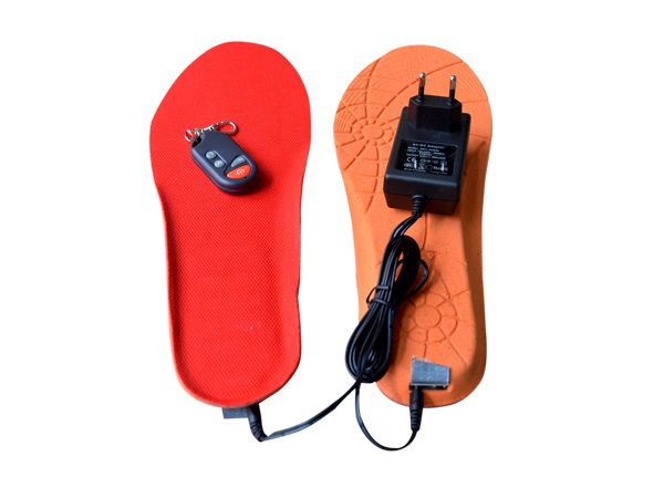 Remote control rechargeable heated insole, electric heated insole, battery heated insole
