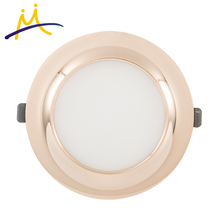 Electroplating ip65 12w SMD2835 round frame led <strong>flat</strong> panel light