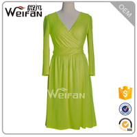 Factory Wholesales OEM Fashion Vestido Dresses Long Sleeve Latest Ladies Western Winter Dress Designs